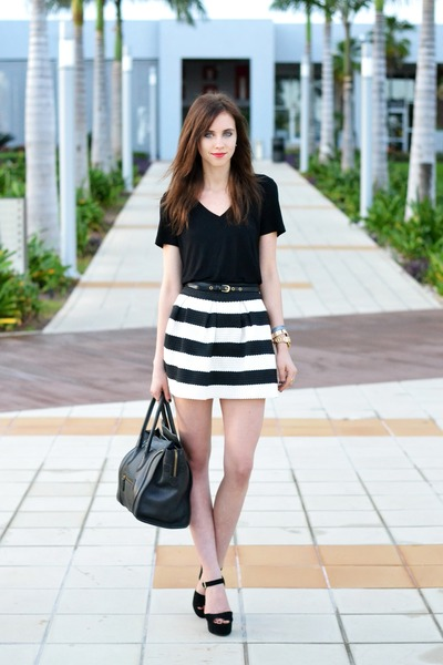 black Steve Madden shoes - black Michael Kors top - black Choies skirt