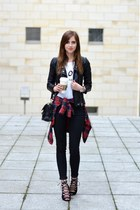 black Sheinside jacket - black PROENZA SCHOULER bag - white Chiquelle top