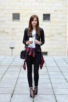 black Sheinside jacket - black PROENZA SCHOULER bag - white Chiquelle top