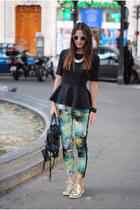 black romwe blouse