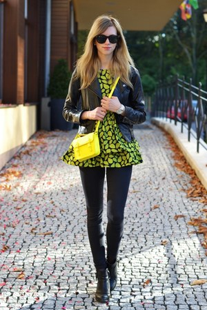 yellow Choies bag - black Topshop boots - black Topshop jeans