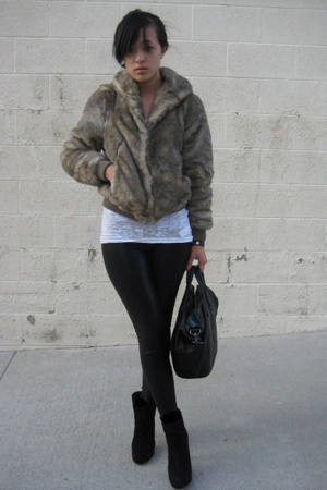H&amp;M jacket - Forever21 t-shirt - aa leggings pants - Zara shoes