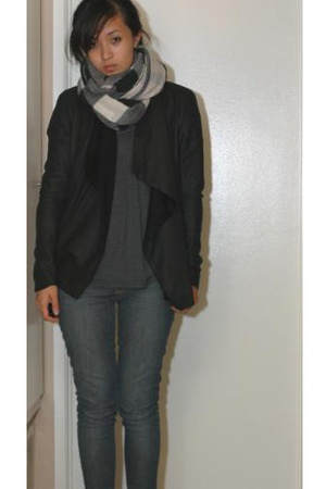 The Row jacket - Burberry scarf - Rich&Skinny jeans - Rubish from Nordstroms Rac