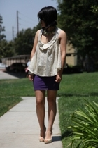Alexander Wang blouse - H&M skirt - Christian Louboutin shoes - Kenneth Jay Lane