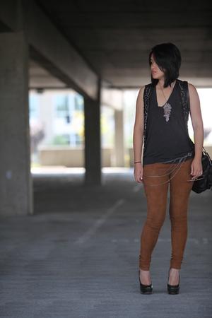 The Row pants - NassarD accessories - Zara vest - Alexander Wang t-shirt - YSL s