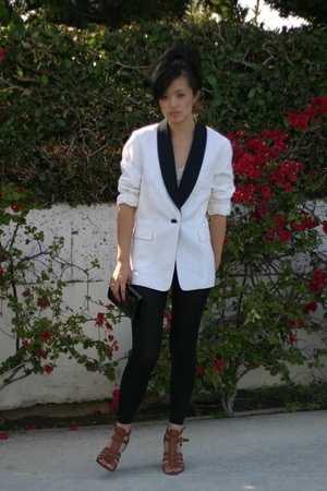 H&M pants - Nine West shoes - Phillip Lim blazer - YSL purse