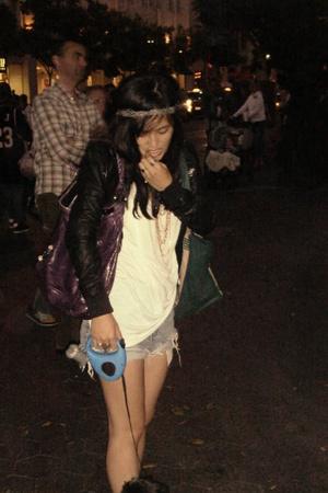 balenciaga purse - Levis shorts - Zara jacket