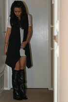 American Apparel dress - Zara vest - balenciaga shoes