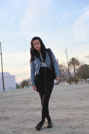 H&M jacket - H&M skirt - vintage shoes