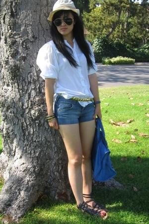 Libertine for Target top - Roxy shorts - balenciaga purse - Target belt