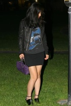 Rick Owens jacket - Chanel purse - The Pretenders shirt - Givenchy shoes