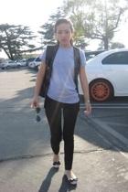 maison martin margiela pants - American Apparel t-shirt - Zara vest - Chanel sho