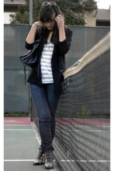 Phillip Lim blazer - forever 21 shirt - Gap jeans - Chloe shoes