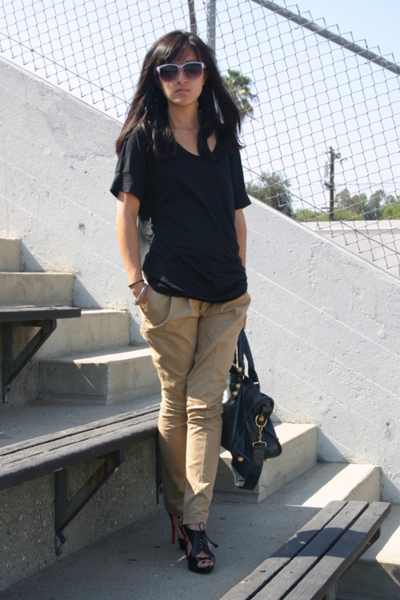 Zara pants - H&M shirt - Christian Louboutin shoes - balenciaga purse