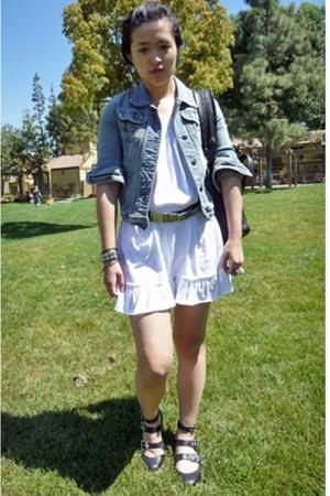 H&M dress - a&f jacket - vivienne westwood shoes - Zara belt