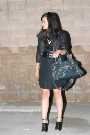 balenciaga dress - Zara belt - Rick Owens jacket - Givenchy shoes