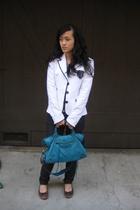 LAMB jacket - payless shoes - H&M jeans