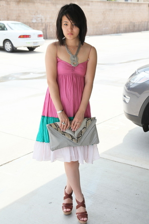 Zara dress - Chloe shoes - vintage accessories - f21 necklace