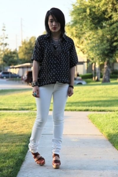 Ksubi jeans - Erin for RVCA shirt - Chloe shoes