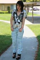 vintage top - Marni shoes - stolen girlfriends club jeans