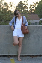 American Apparel shorts - banana republic purse - H&M top - banana republic shoe