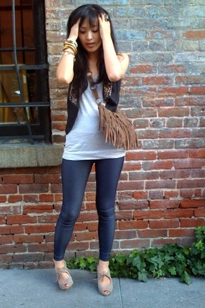 AA Faux Denim pants - Rogan for Target shirt - Zara vest - Zara shoes