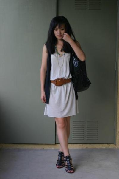 Rick Owens dress - Target vest - Zara belt - Chanel purse