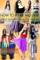 How To Wear the Midi Skirt Trend