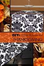 DIY: Table Runner for Thanksgiving