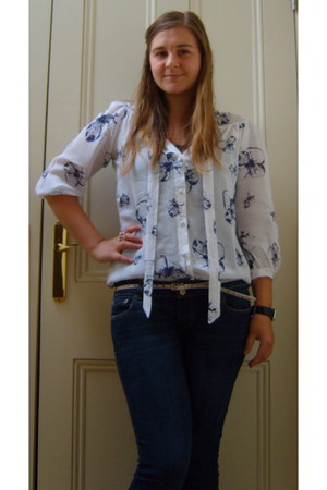 American Eagle jeans - tesco blouse - Primark belt