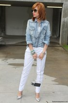 denim Dolce & Gabbana shirt - silver Musette shoes - box Zara bag