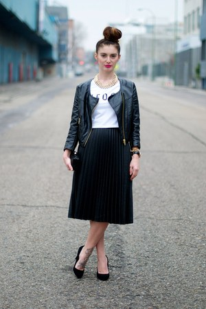 black Zara skirt - black H&M jacket