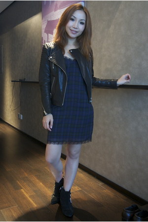 Zara boots - Zara dress - H&M jacket
