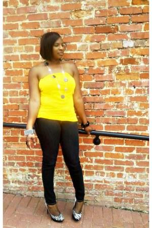 black skinny jeans True Religion jeans - Charlotte Russe accessories - platform