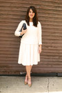 Cream-old-navy-sweater-pleated-cream-forever-21-skirt