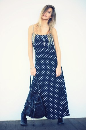 black Motel Rocks dress - black Zara bag - silver PERSUNMALL bracelet