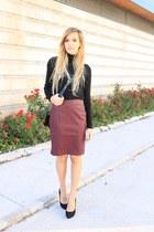 black Zara sweater - black Zara bag