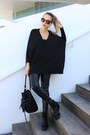 Black-mango-sweater-black-zara-bag-black-zara-pants