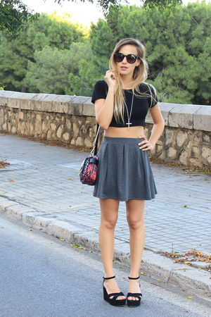 Zara bag - asos sunglasses - cotton Topshop top - H&M skirt