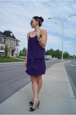 deep purple Jacob dress - Steve by Steve Madden heels