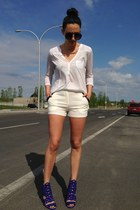 brian atwood heels - Lush shorts - Aldo sunglasses - H&M top