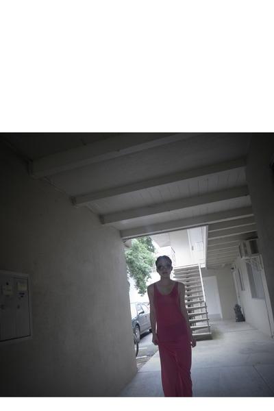 pink Topshop dress - brown Chloe glasses
