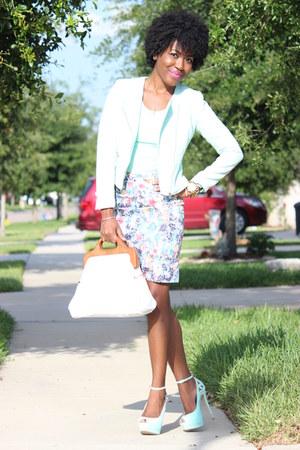 tweed H&M blazer - satin H&M skirt