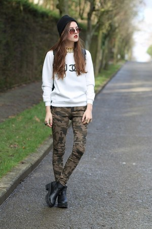 camo The Editors Market pants - fuk Sheinside jumper