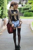 leopard cross Sheinsidecom t-shirt