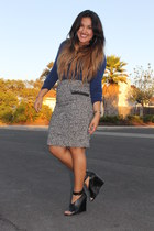 Forever 21 skirt - Nordstrom Rack sweater - trouve wedges
