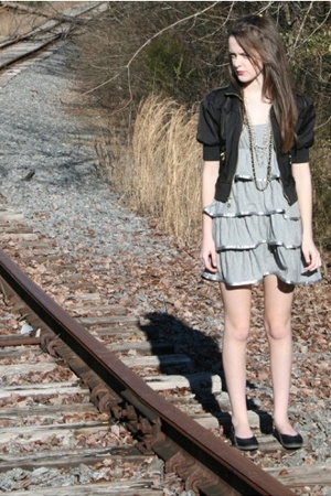 Victorias Secret dress - jacket - Converse shoes - Wet Seal necklace - Killah pu