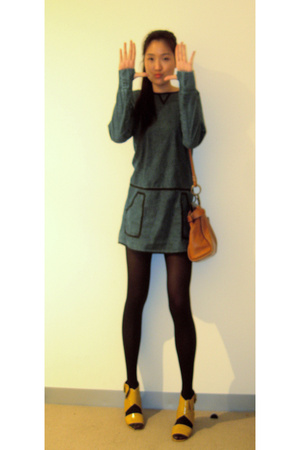 COHEN et SABINE dress - Wolford tights - Mimco purse - Witchery