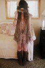 Brown-forever-21-boots-salmon-rose-bullet-dress-tan-forever-21-sweater