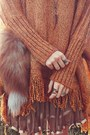 Tawny-chicwish-sweater-brown-durango-boots-light-orange-shop-lately-bag